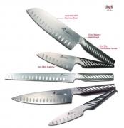 Набор ножей Chef + Santoku + Petty + Paring + Хлебный