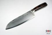 Нож Santoku Zhen Damascus Series 175мм