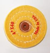 Муслиновый круг желтый жесткий, 100мм