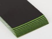 Накладки из G-10 Black/Green, 6.6мм