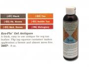 Краска для кожи Eco-flo Antik Gel черная, 240мл