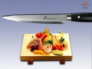 Нож Sujihiki Zhen Carbon Stainless Steel Series black 205мм